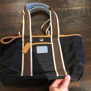 Coach Nylon and Leather Shoulder Bag